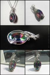 Mystic Topaz Pendant by Meowchee