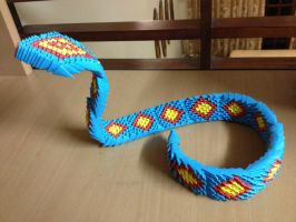 3D Origami Cobra by BrownBlurry