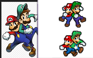 Mario and Luigi Superstar Saga pose by RockMan6493