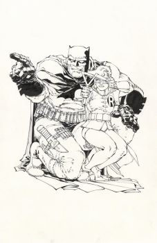 Williams inking Frank Miller by INKIST
