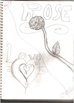 love and roses...ok, one rose by the-alchemy-of-me