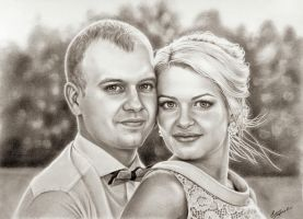 Newlyweds by evlena