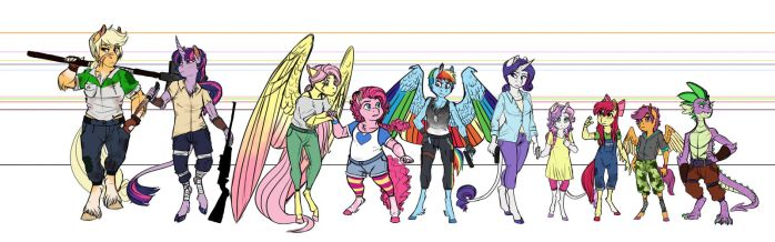 Infected!AU Height Chart by Earthsong9405