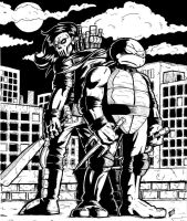 Raphael and Casey Jones by gadgetwk