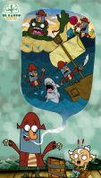 FlapJack and Captain Knuckles by santochilango