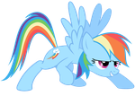 Rainbow Dash Vector  - When You're Ready! by Anxet
