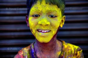 Yellow Faced Boy by poraschaudhary