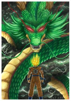 Victory Wish | Goku and Shenron by Abz-Art