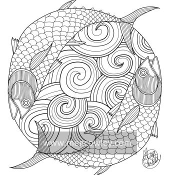 Bluefin Tuna (The Exotic Colouring Book) by megcowley