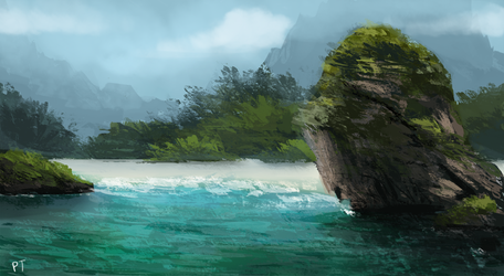 Day 411. Beach by Cryptid-Creations
