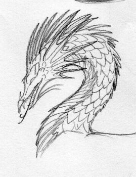 Pencil dragon head by TurtleClairou