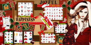 Christmas hats and clothes PNG. by Mjzo