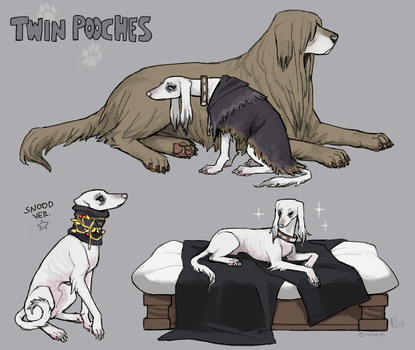 Twin Pooches by emlan