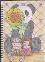 The Sunflower and The Panda by Centaurea18