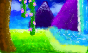 Scenery Doodle by Lonely-Digging