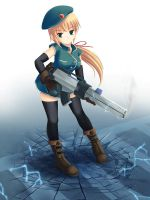 The girl with railgun by maxwindy