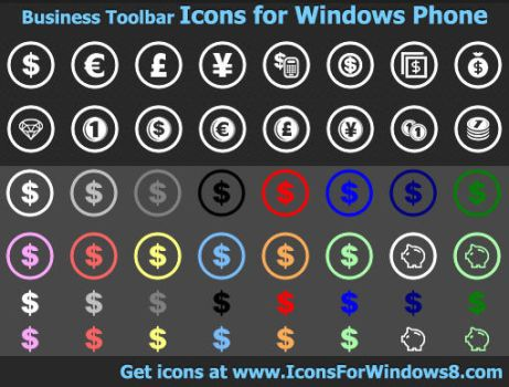 Business Toolbar Icons for... by Ikont