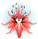 Flamingo Passion Flower by eosvector