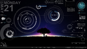 my rainmeter by bitts2010