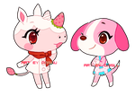 ACNL -- Merengue and Cookie by onisuu