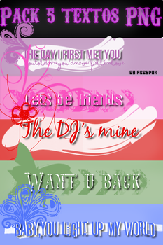 Textos PNG   Pack 01. by AbbyDox