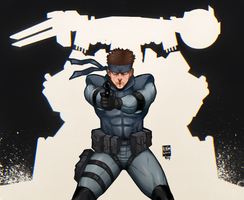Solid Snake by WitcheressWoxy