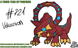 A third year of pokemon: #721 Volcanion