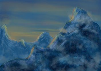 Mountain by Loup-sauvage
