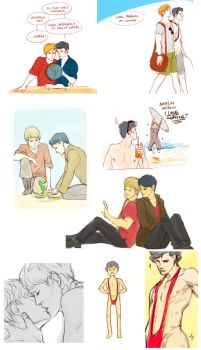 Merlin and Sherlock sketches + sketch requests by ptelly