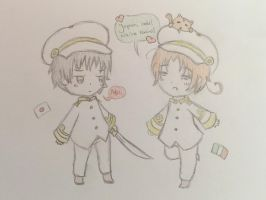 Japan and Italy by BearWithWings