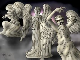 10 Days of Doctor Who Challenge: Weeping Angels by ElementalAngel