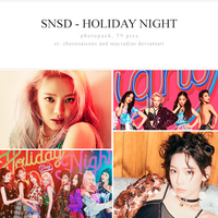 SNSD - Holiday Night Photopack by mayradias