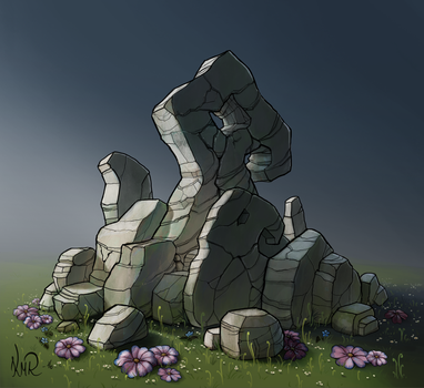 Pile of rocks by Kiarya