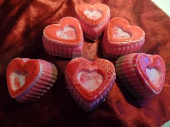 Heart Soaps by repulsive-frog