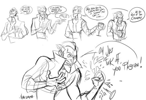 WildStar : Malvolio sketches by Nina-Serena