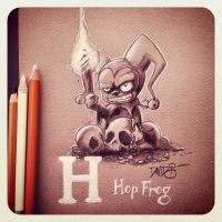 H is for Hop Frog by Disezno
