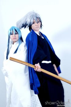 Nura Rikuo and Yuki-onna 01 by shawn2death