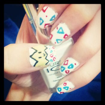 Togepi Nails by Xavria