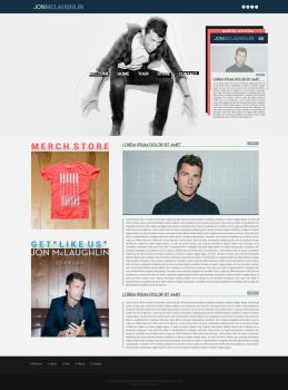 Jon McLaughlin Wordpress Mock-up by BurningBrightDesigns