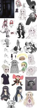 Mixed Sketch Dump 7 by DrawKill