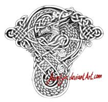 Celtic Dragon VIII Tattoo by Feivelyn