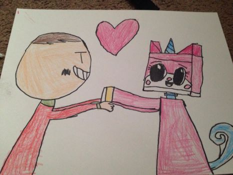 My drawing of me and Unikitty by Dimensions101