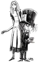 Alice and the Mad Hatter by herbertzohl