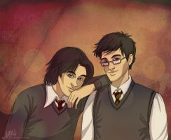Padfoot and Prongs by ggns