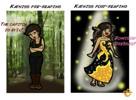 Before and After Katniss by kahh-poww