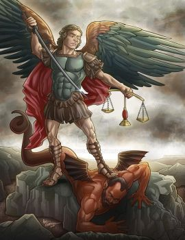 My Take on the Classic Archangel Michael Painting by kpetchock