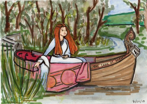 The Lady of Shalott by LooneyDreamer