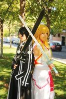 Kirito and Asuna by AsleepPanther
