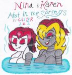 Nina and Karen: Hot in the Springs by gilster262