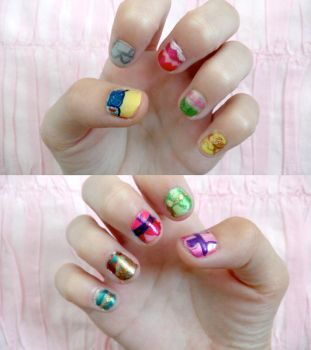 disney princess nails by colorized-happily